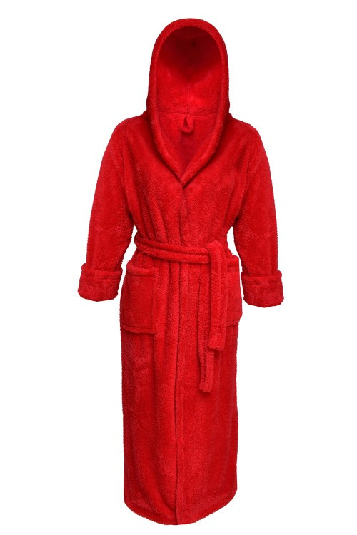 Plus Size, Dressing-gown Diana Long Red Plus Size